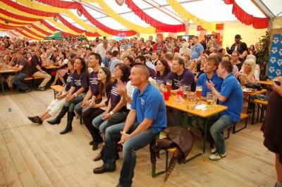 Miss Volksfest 2014 im Bierzelt