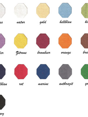 Spanntücher Farbkarte