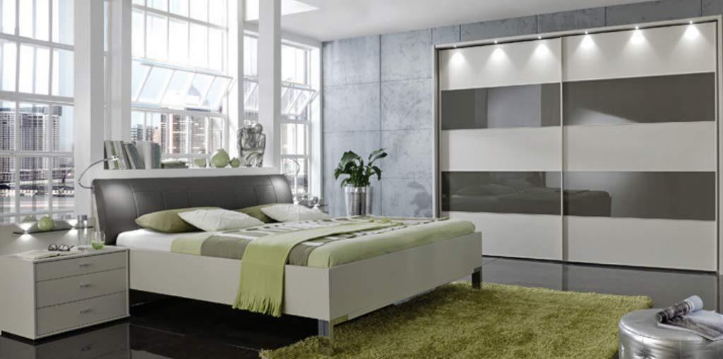Sunset VIP Schlafzimmer Glas mit Passepartout und Bettgestell
