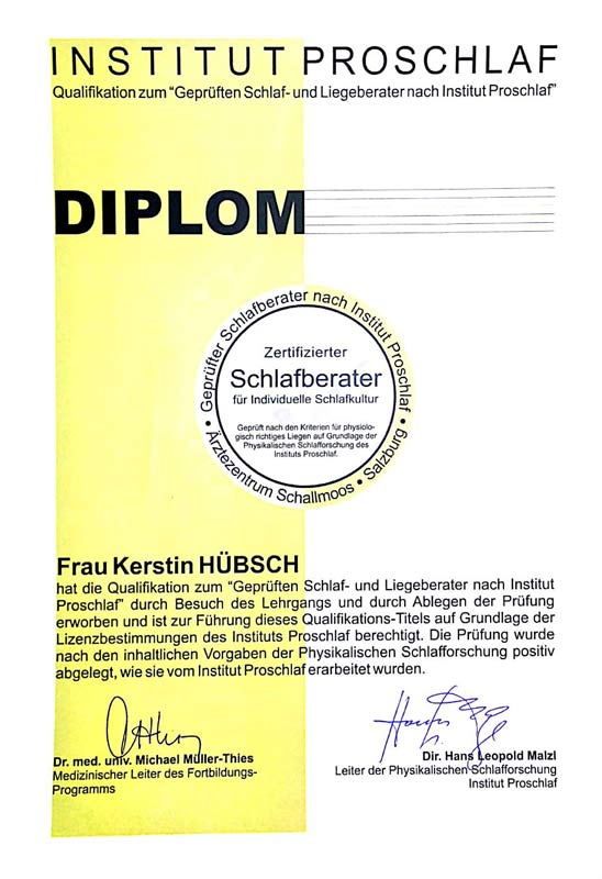 Diplom Schlafberater Kerstin Hübsch