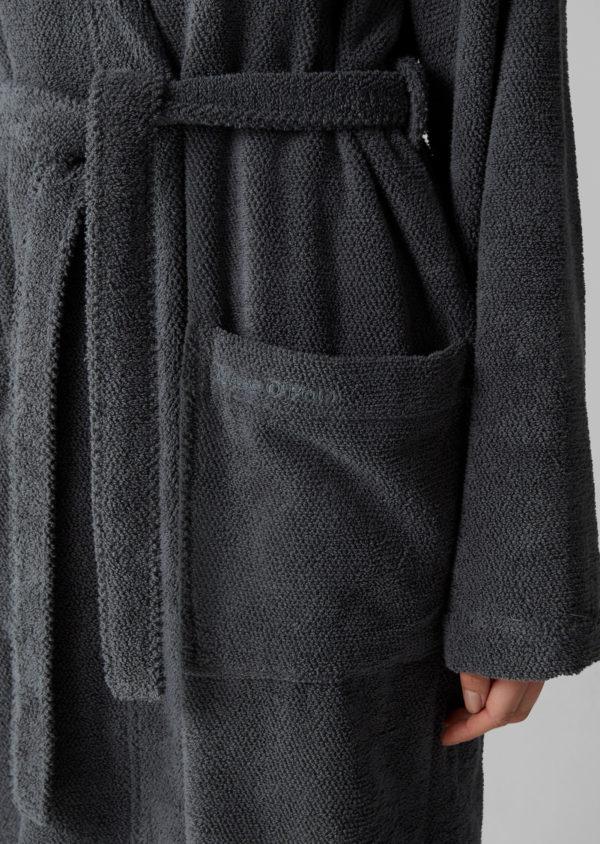 Marc o´Polo Bademantel Classic Anthrazit Tasche