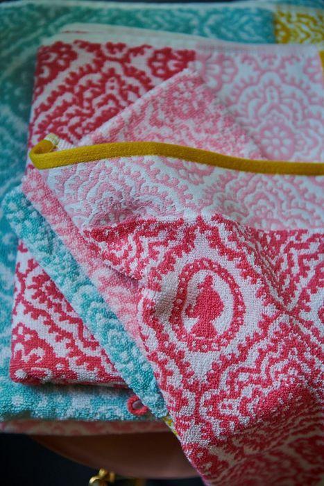 Pip Studio Handtuch Jacquard check Pink 2