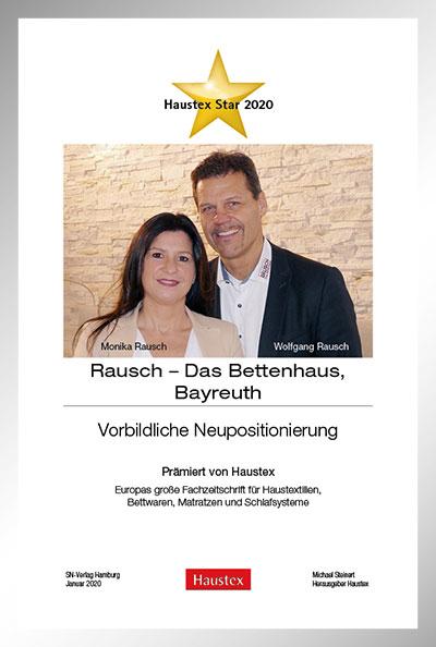 Urkunde Haustex-Star 2020