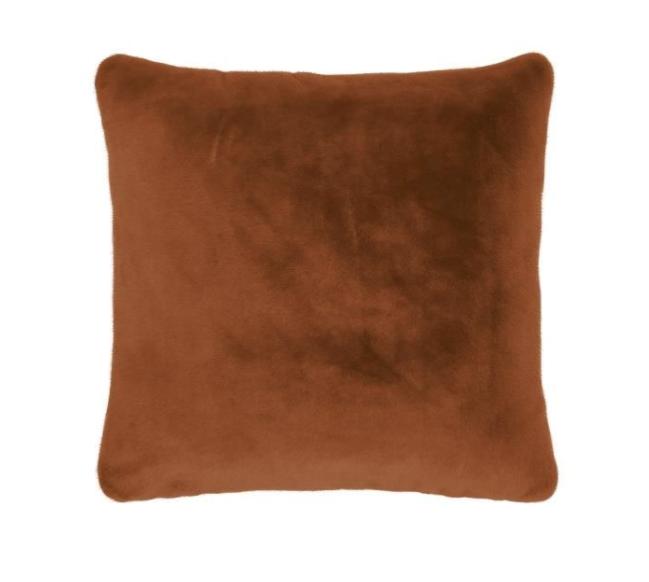 Essenza Furry Zierkissen leather brown