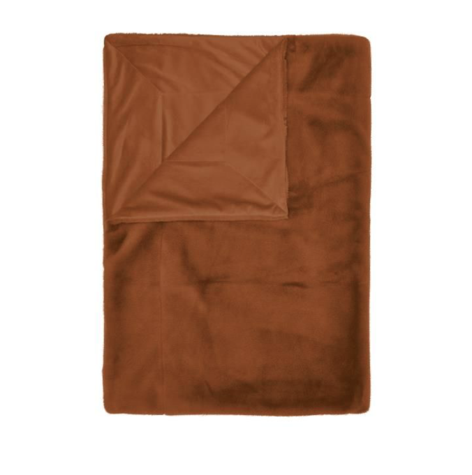 Essenza Furry Plaid leather brown