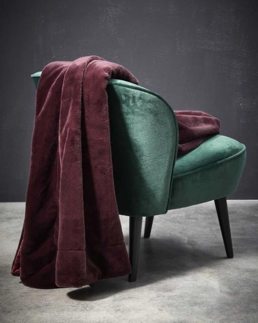 Essenza Furry Plaid burgundy Bild