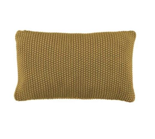 Marc o´Polo Nordic Knit Dekokissen oil yellow