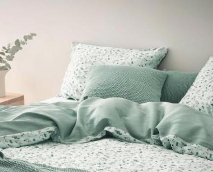 Marc o´Polo Nordic Knit Cushion soft green Bild