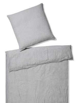 Elegante Pure Bettwäsche Reinleinen light grey
